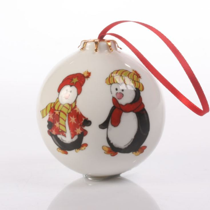 Penguin Pals Personalised Bauble product image