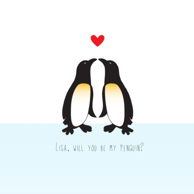 Personalised Penguin Framed Print product image