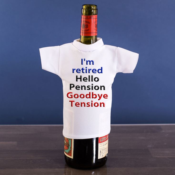 I'm Retired Wine Bottle T-Shirt product image