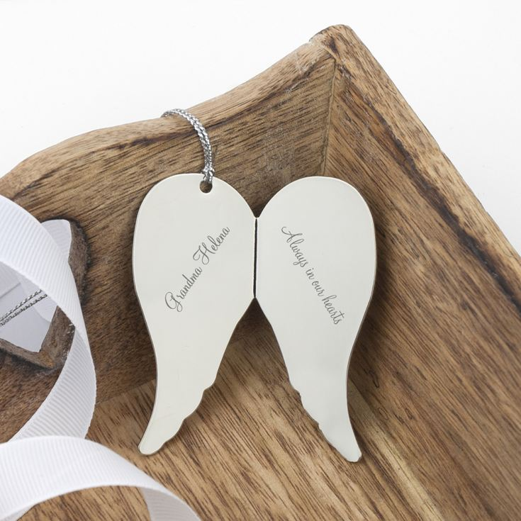 Engraved In Memory Angel Wings Keepsake product image