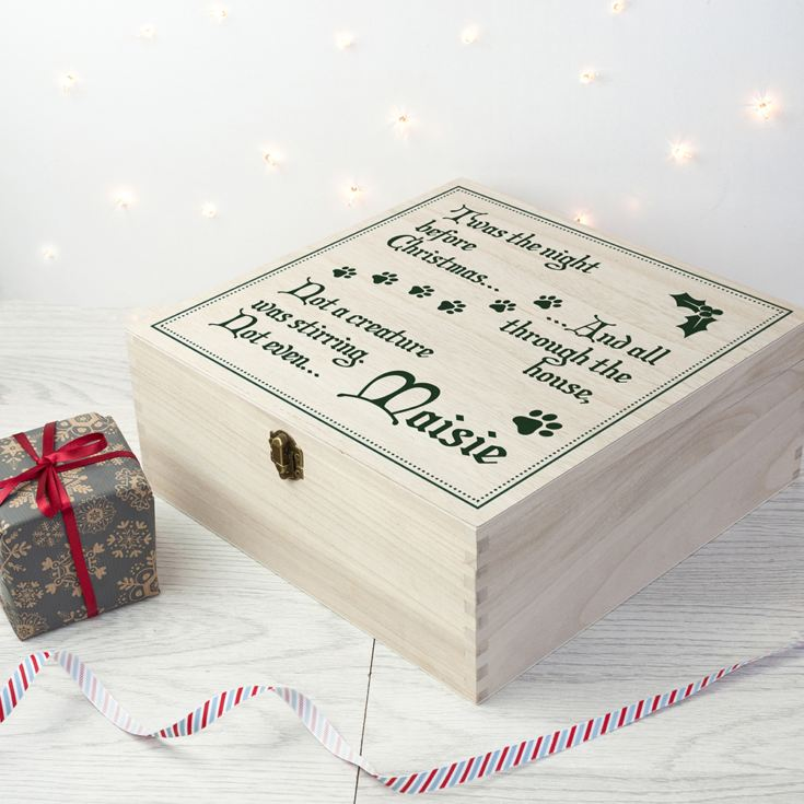 Personalised Pets T'was The Night Before Christmas Box product image