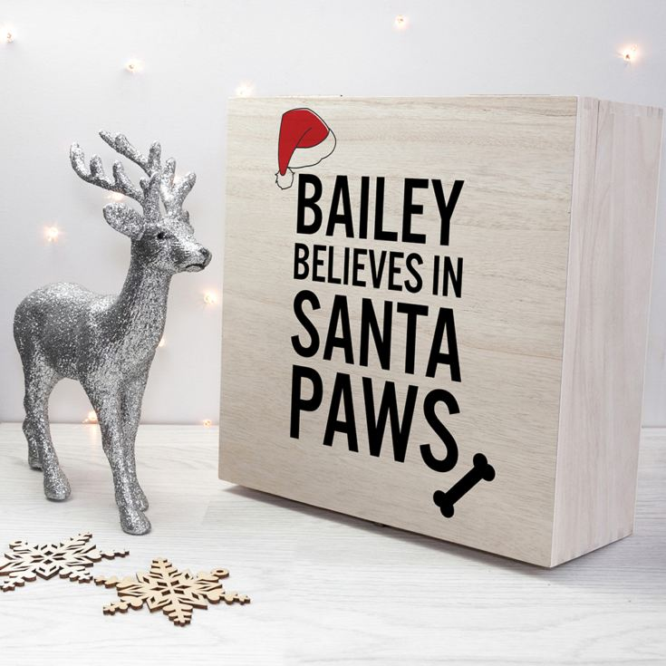 Personalised Pets Santa Paws Christmas Eve Box product image