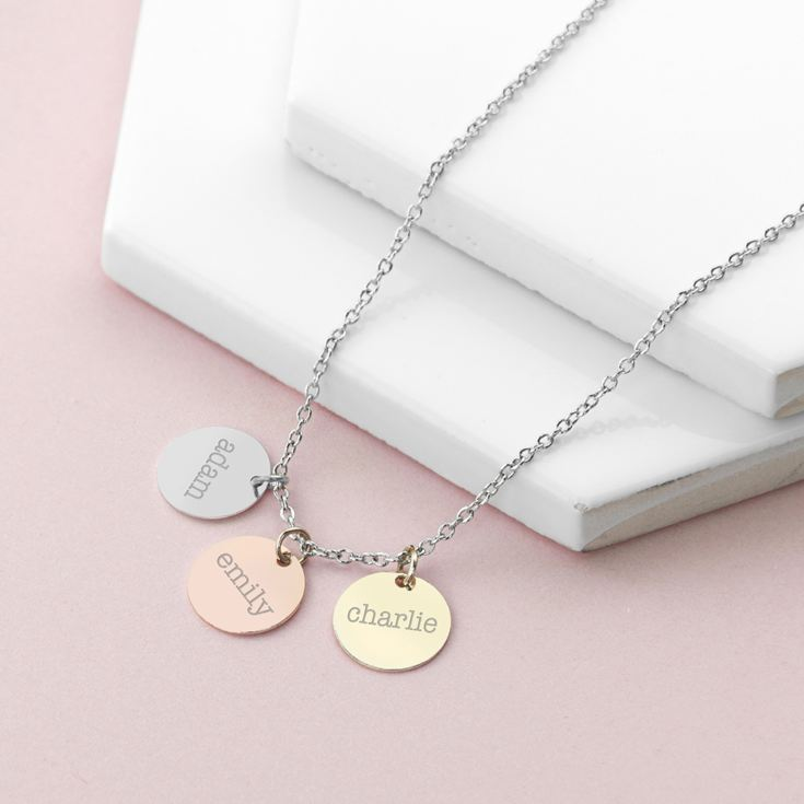 Personalised My Family Discs Necklace product image