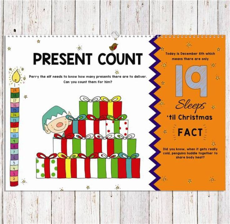 24 Sleeps Til Christmas Advent Book - Personalised product image