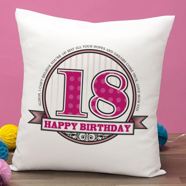 Personalised Birthday Cushion Product Image