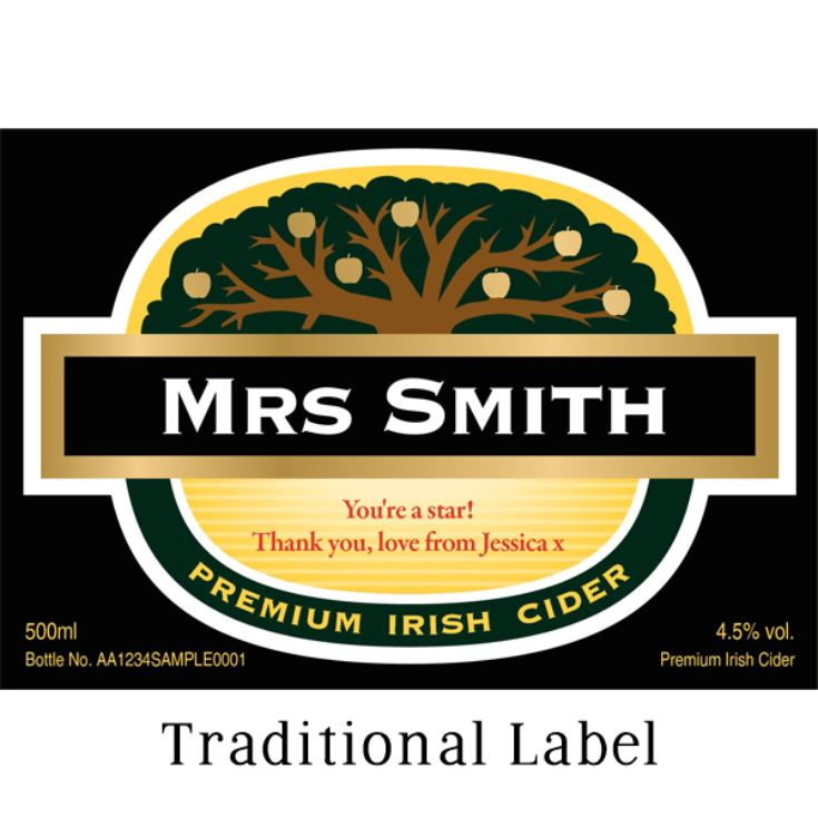 Personalised Bottle Of Cider product image