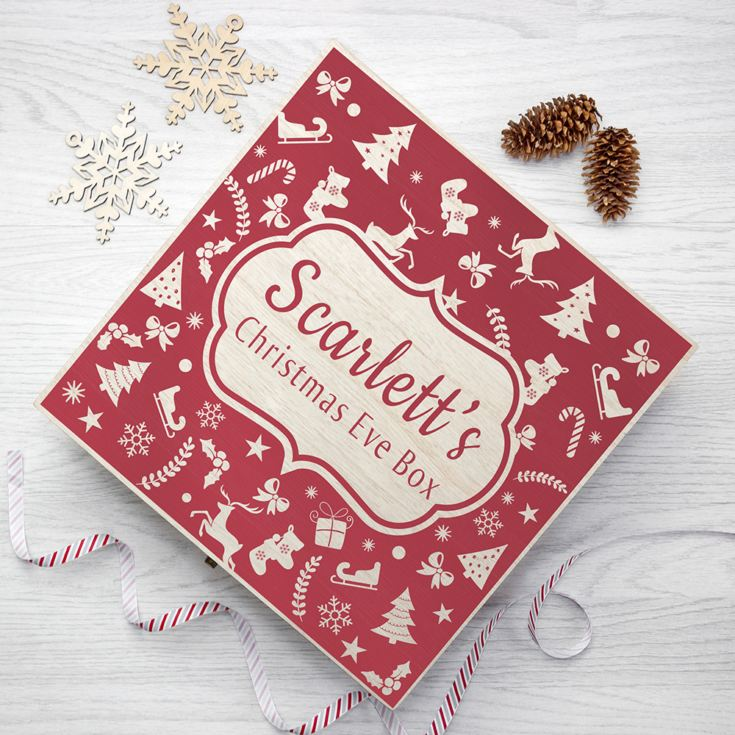 Personalised Christmas Eve Box With Festive Pattern product image