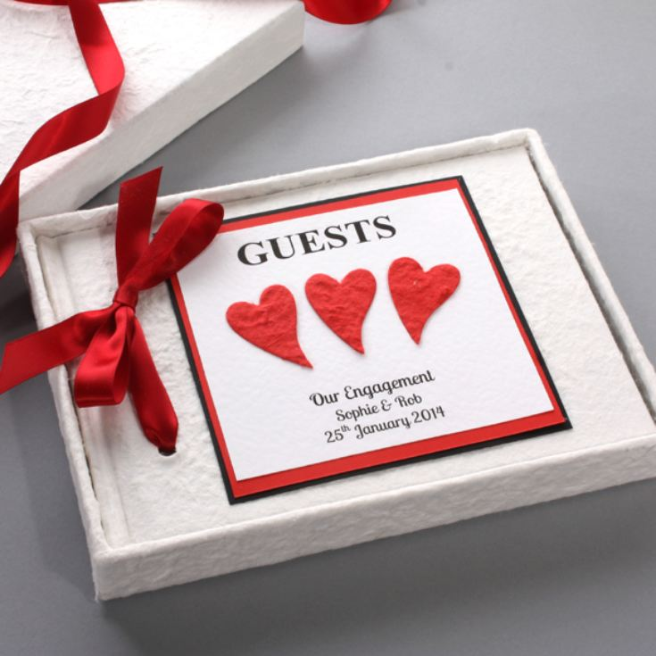 Personalised Engagement Guest Book product image