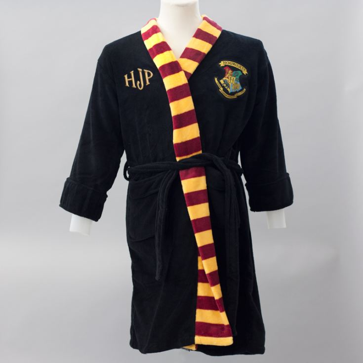 Personalised Embroidered Harry Potter Black Robe With Scarf product image