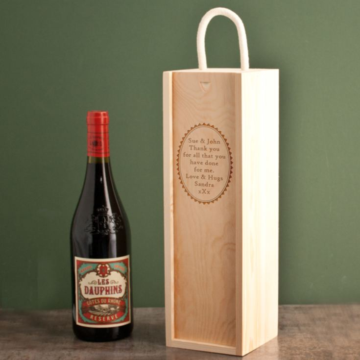 Personalised Wooden Wine Box product image