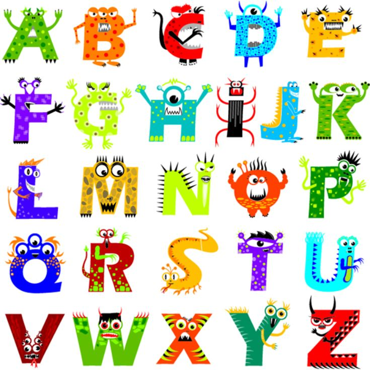 Personalised Monster Alphabet Framed Print product image