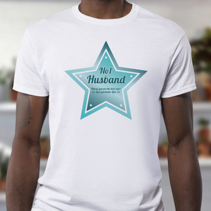 Personalised Number 1 Husband T-Shirt product image
