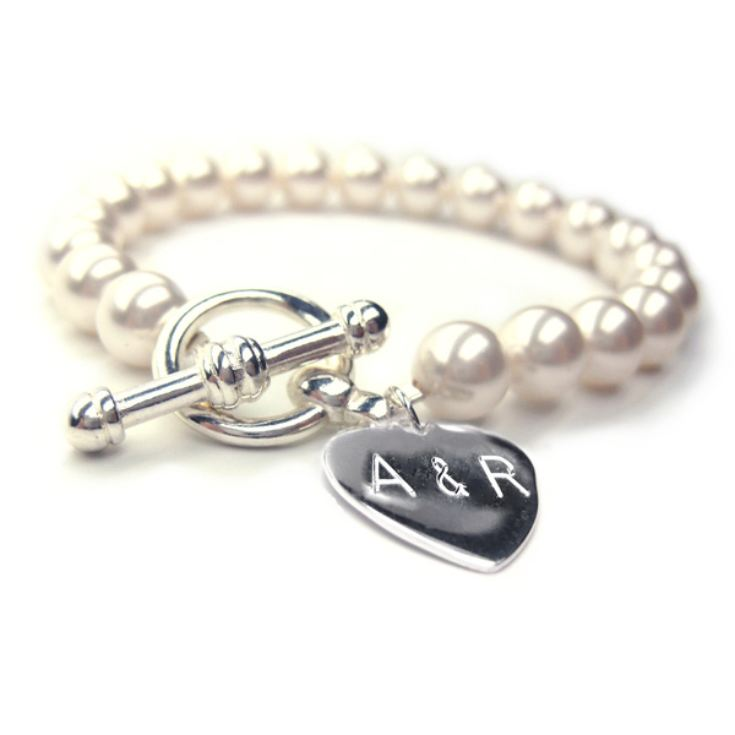 Personalised Forever Pearl Bracelet for the Bride product image
