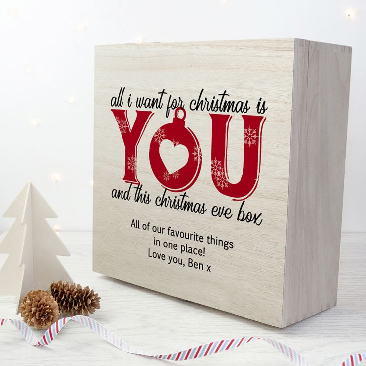 Personalised Romantic Couples Christmas Eve Box product image