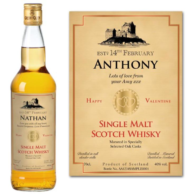 Valentine's Day Personalised Bottle of Whisky product image