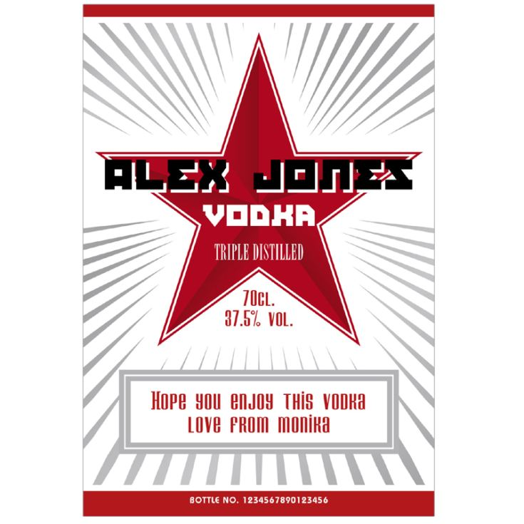 Personalised Vodka product image