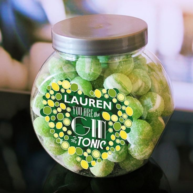Personalised You're the Gin to my Tonic Sweet Jar product image