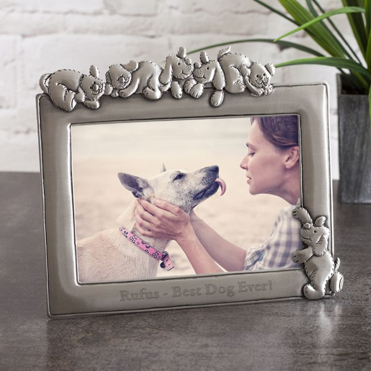 Personalised Antique Finish Dog Photo Frame product image