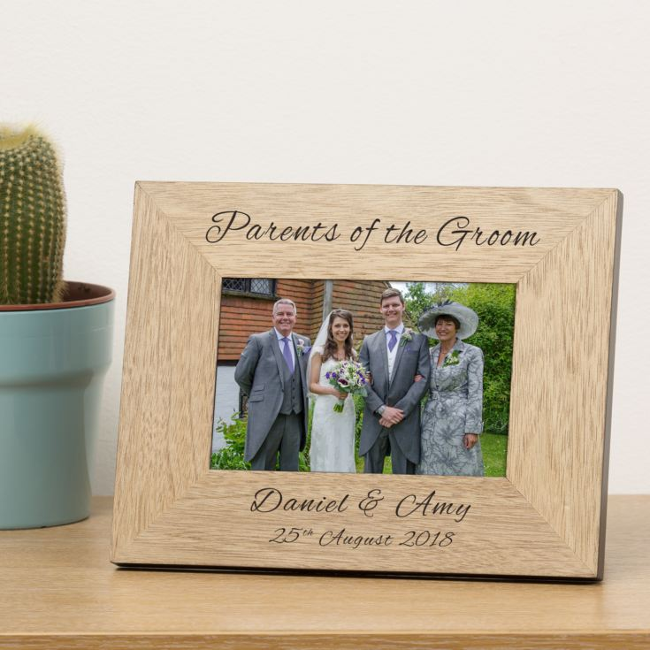 Personalised Mother Of The Bride Wooden Photo Frame product image