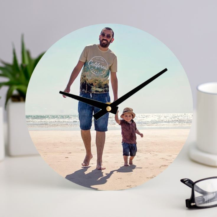 Personalised Photo Upload Clock product image