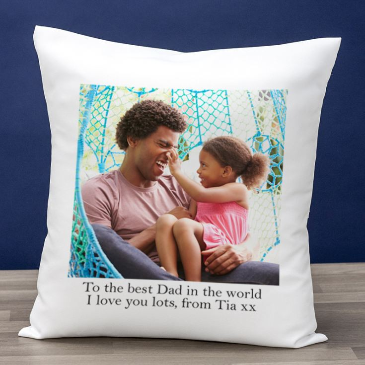 Personalised Photo Cushion For Dad product image