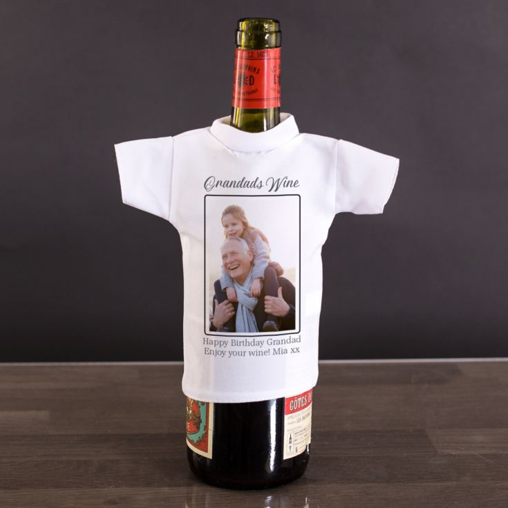 Personalised Photo Upload Wine Bottle T-shirt product image