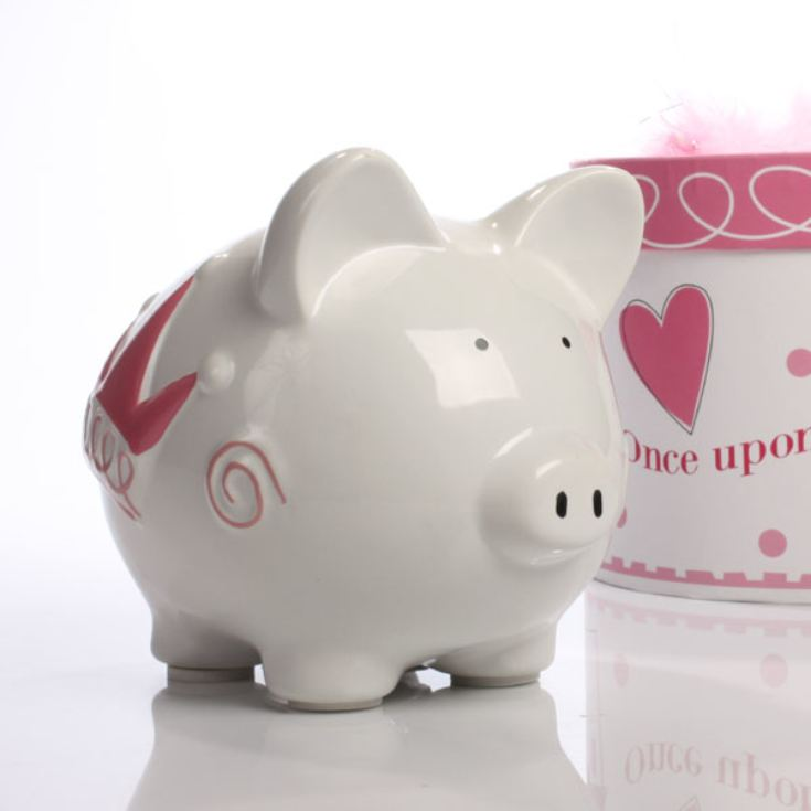 Personalised Princess Castle Piggy Bank product image