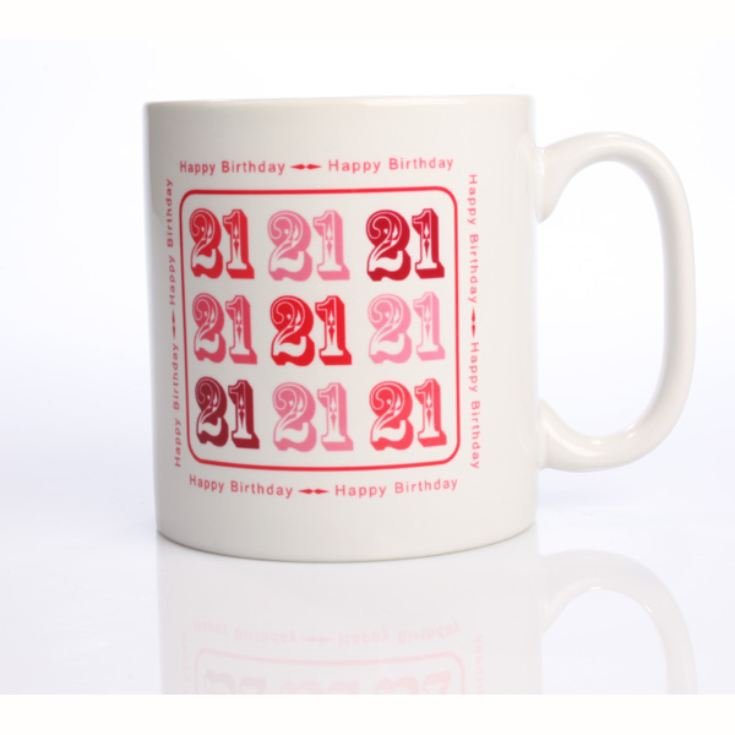 Pink 21st Birthday Mug product image