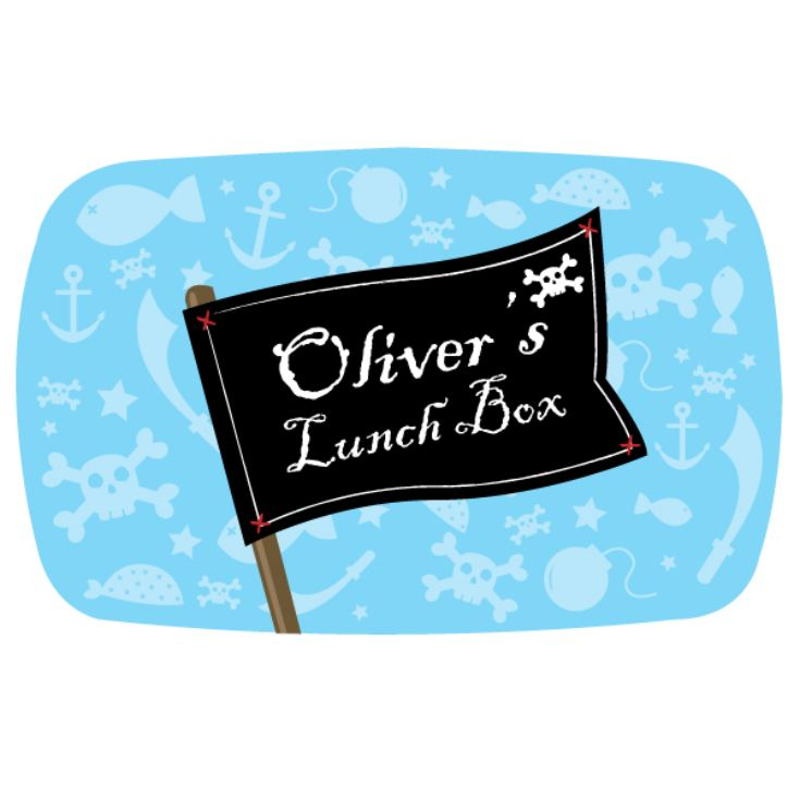 Personalised Pirate Flag Lunch Box product image