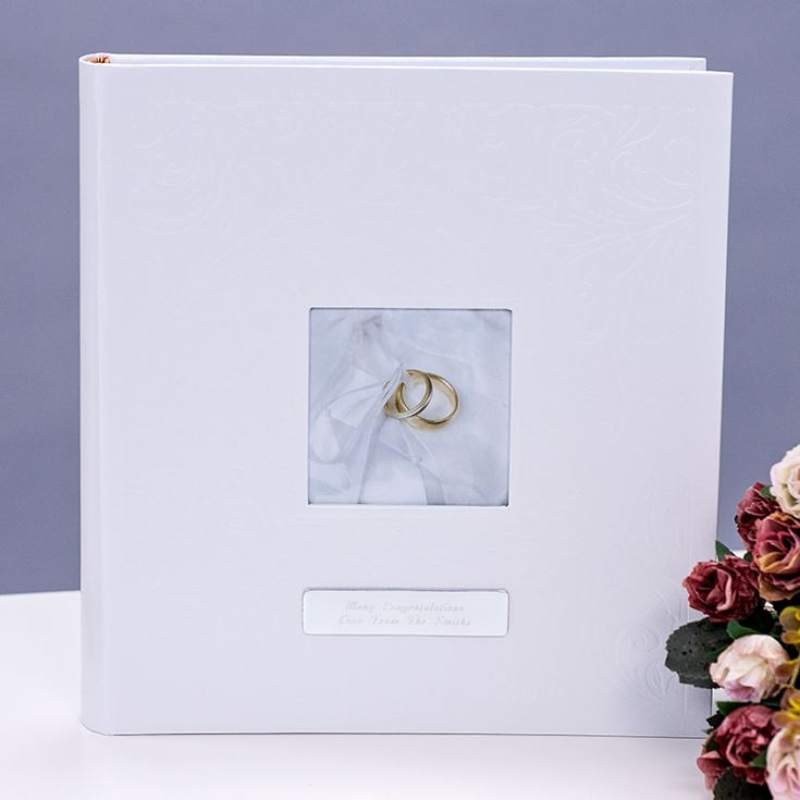 Personalised Ivory Wedding Rings Photo Album product image