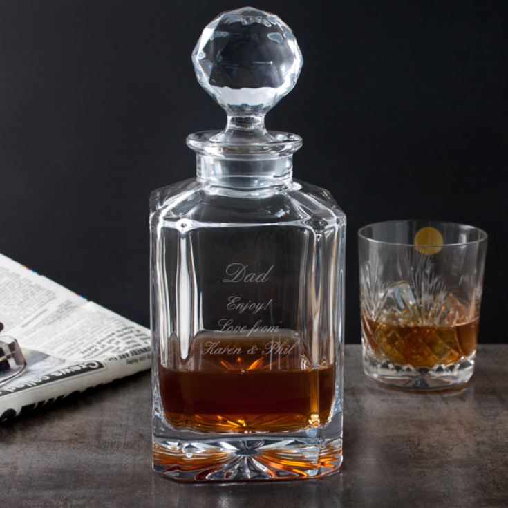 Engraved Square Crystal Decanter product image
