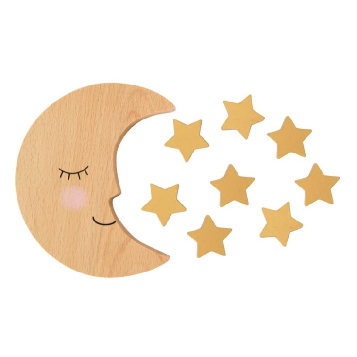 Personalised Sweet Dreams Moon And Stars Wooden Balancing Game product image