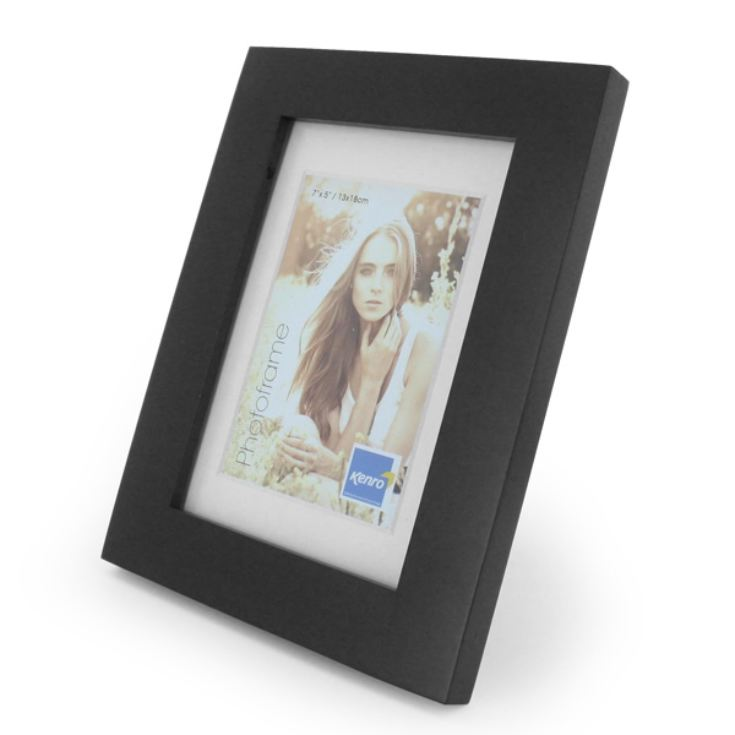 Engraved Black Wood Photo Frame product image