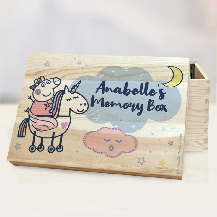 Personalised Peppa Pig™ Memory Box product image