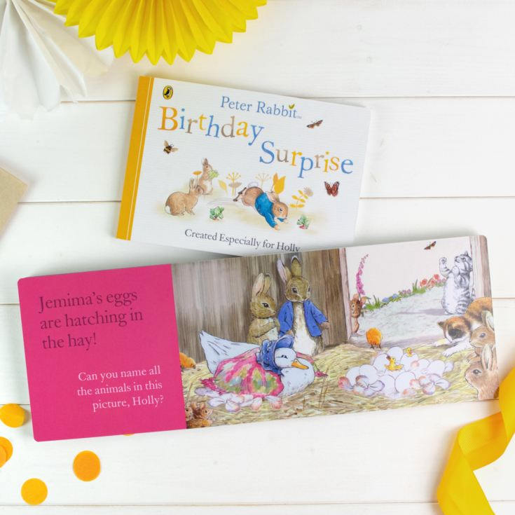 Personalised Peter Rabbit 'Birthday Surprise' Board Book product image