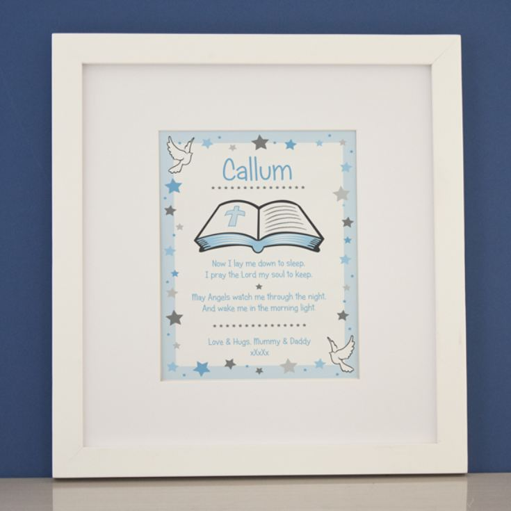 Personalised Prayer Boys Framed Print product image