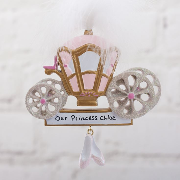 Personalised Princess Carriage Hanging Ornament product image
