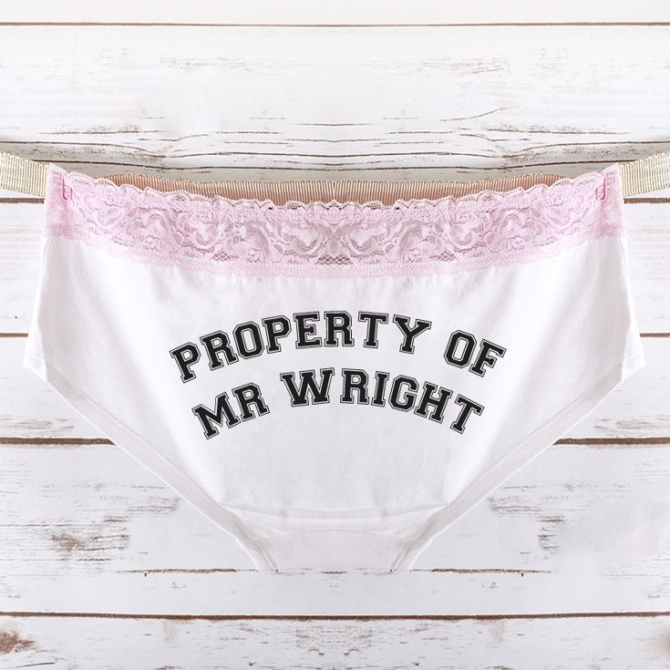 Personalised Property Of Ladies Hipster Briefs product image