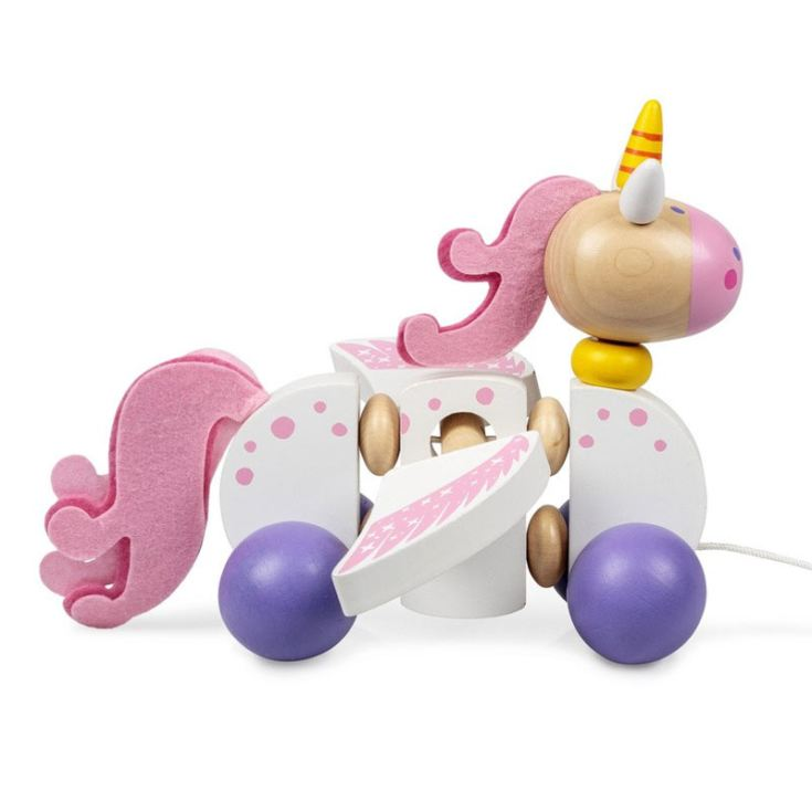 Wooden Pull Along Unicorn product image