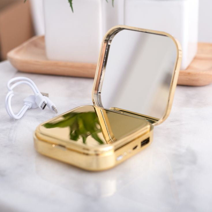 Pretty Useful Tools - Engraved Power Bank Mirror product image