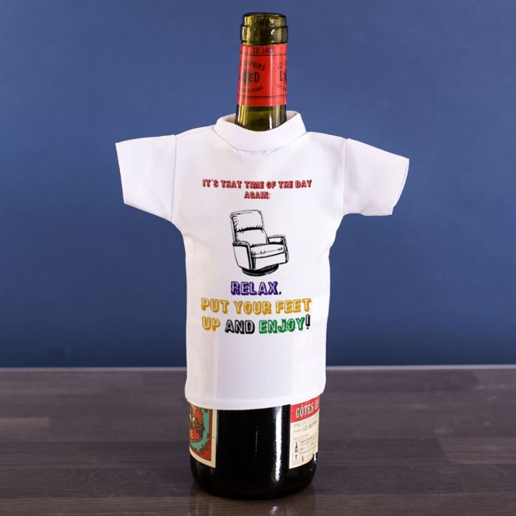 Put Your Feet Up Wine Bottle T-Shirt product image