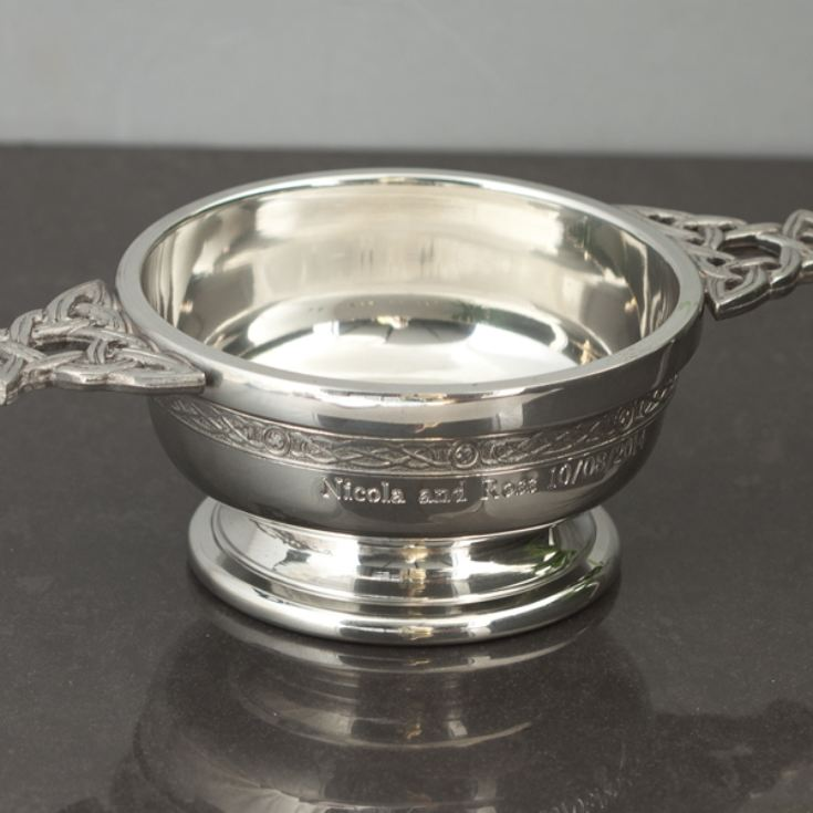 Personalised Pewter Quaich Bowl product image