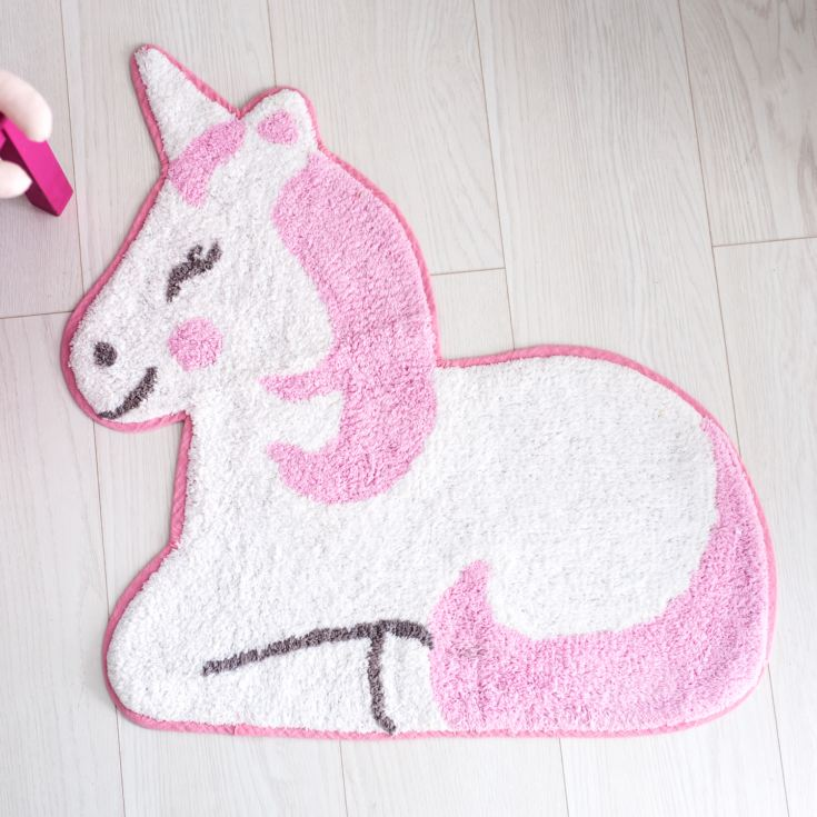 Personalised Embroidered Betty The Unicorn Rug product image