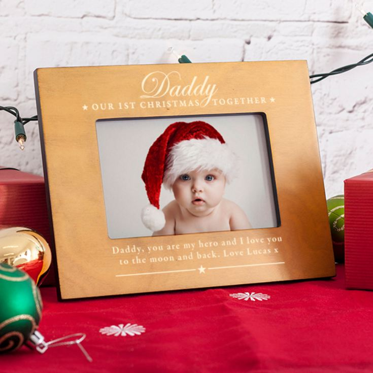 Personalised Our First Christmas Together Daddy Photo Frame The