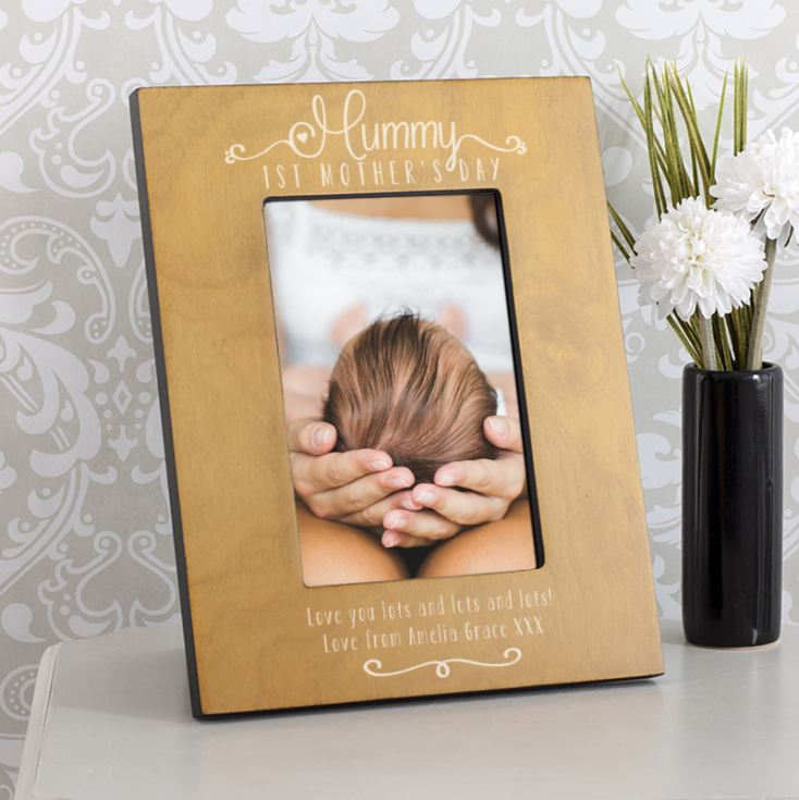 Personalised Mummy 1st Mother's Day Wooden Photo Frame product image