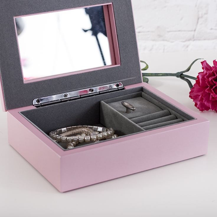 Personalised Pink Oxford Jewellery Box product image