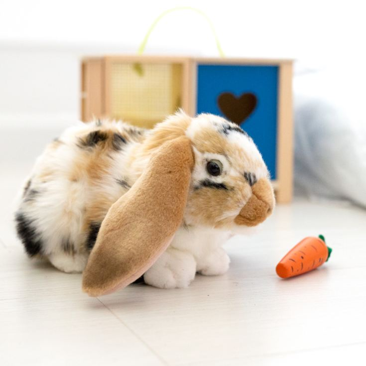 Living Nature Dutch Lop Eared Rabbit Soft Toy - Brown product image
