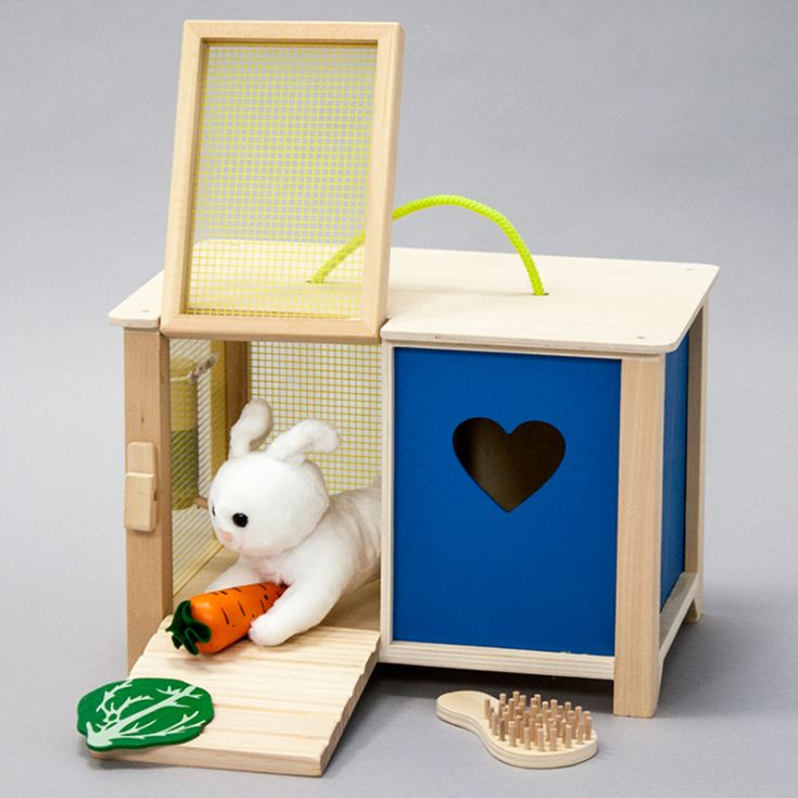 Personalised Wooden Toy Rabbit Hutch product image