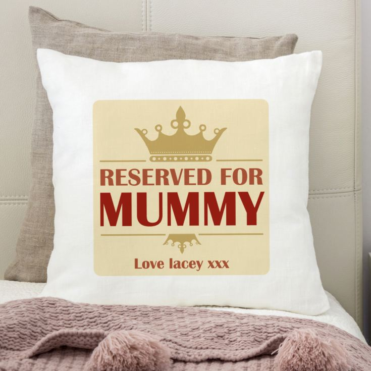 Reserved For Mummy Personalised Cushion product image