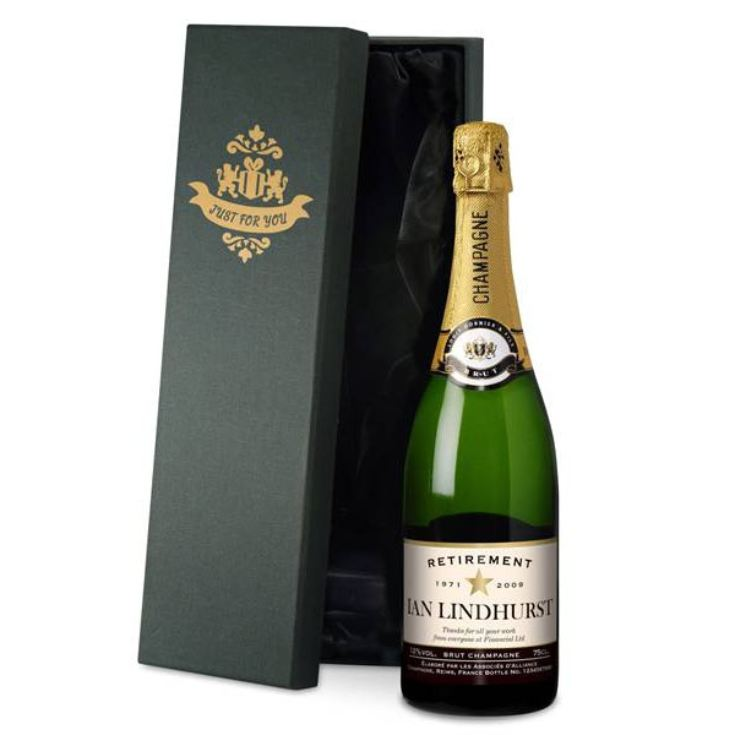 Personalised Retirement Champagne product image